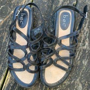 BOC strappy black sandals size 7